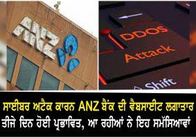 ANZ Bank website offline